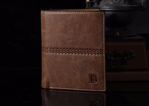 Brown Vertical Designer Wallet - Thebuyspot.com