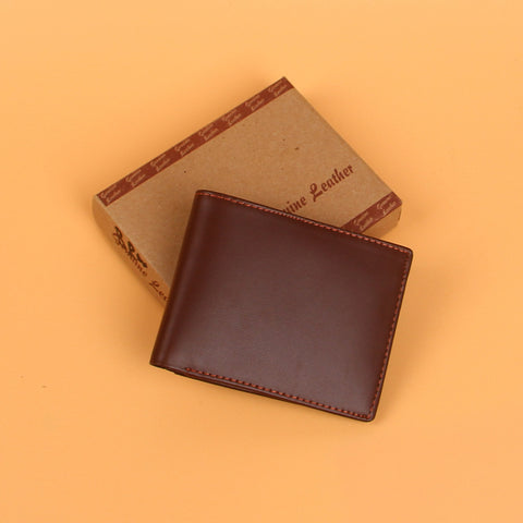 Brown Luxury Leather Plain Wallet
