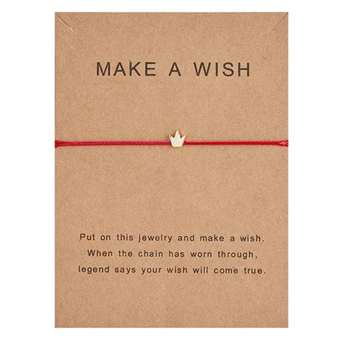 Crown Rope Bracelet With Make A Wish Paper Card - Thebuyspot.com