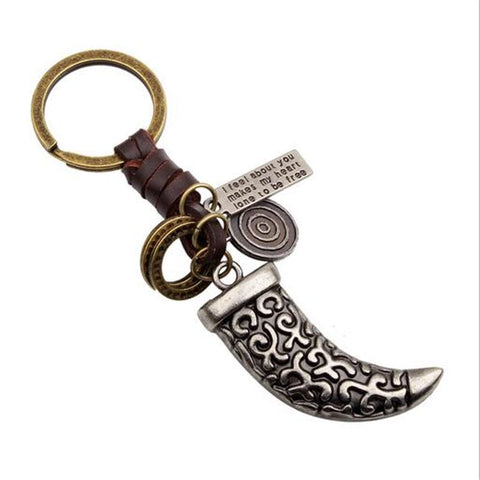 Dagger Key chain Brown Genuine Leather - Thebuyspot.com