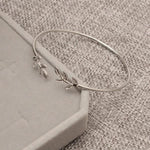 Fashion Simple Silver Cuff Leaves Bracelets