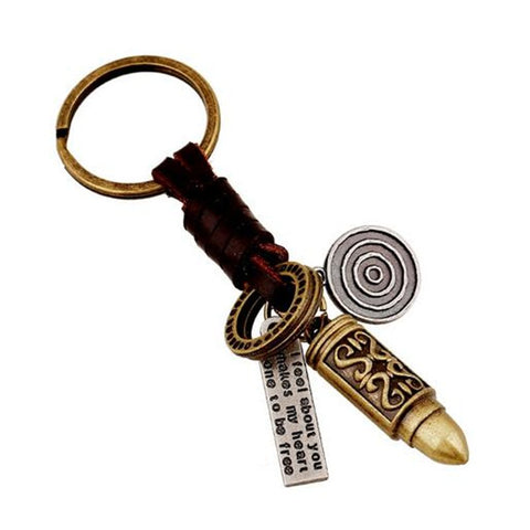 Gold Bullet Antient Key chain - Thebuyspot.com