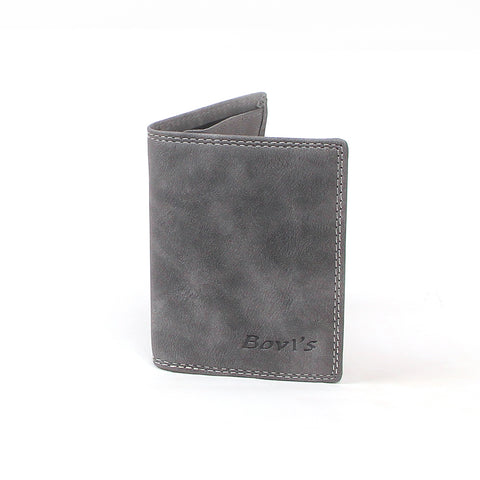 Gray B1109 card holder and wallet