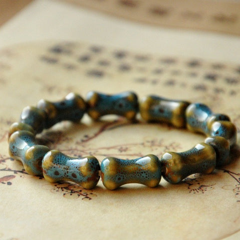 Green Shaped Ceramic Stone Bracelet - Thebuyspot.com