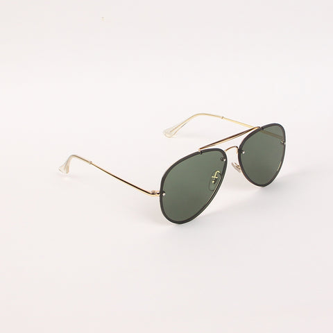 Green Shade Golden Frame RB Style Sunglasses