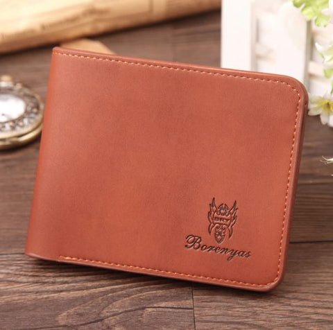 High Quality Casual Brown Leather Wallet - Thebuyspot.com