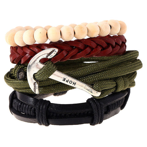 Hope Rope Leather Bracelet - Thebuyspot.com
