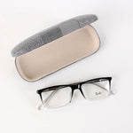 Black Fancy Rectangle Eyeglasses