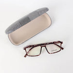 Fancy Black Rectangle Design Eyeglasses