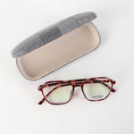 Fancy Black Pink Rectangle Design Eyeglasses