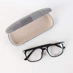 Black Boss Rectangle Shape Eyeglasses