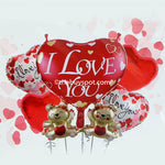 Heart-shaped Foil Balloons Valentine's Day I Love You Heart Balloon