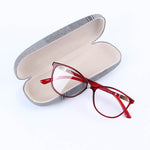 Red Rectangular Eyeglasses