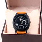 Brown Leather Strap 1164 Men's Wrist Watch