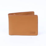 Slim Leather Wallet Beige