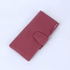 Pink Womens Long Leather Wallet