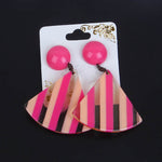 New Fashion Stripes Earring Pink