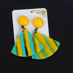 New Fashion Stripes Earring Yellow