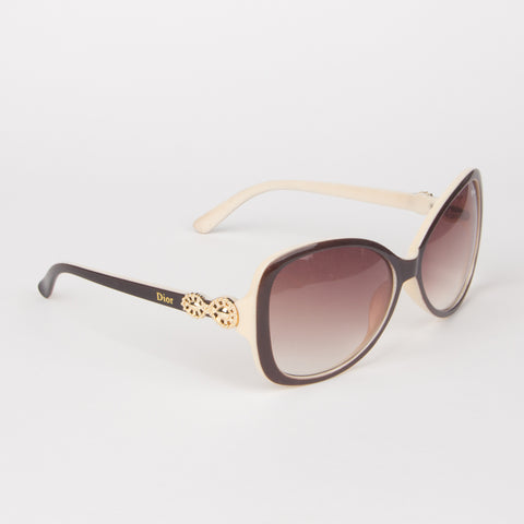 Black & Brown Gradient Dior Sunglasses - Thebuyspot.com