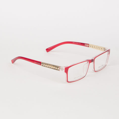 Red And White Bvlgari Eye Glasses - Thebuyspot.com