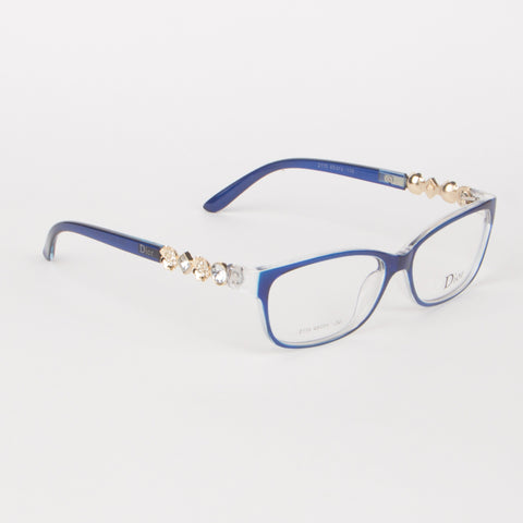 Blue And White Dior Eyeglasses - Thebuyspot.com