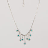 Green Gem Pendant With Long Tassel - Thebuyspot.com