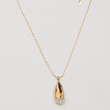 Golden Gem Diamond Shape Pendant - Thebuyspot.com