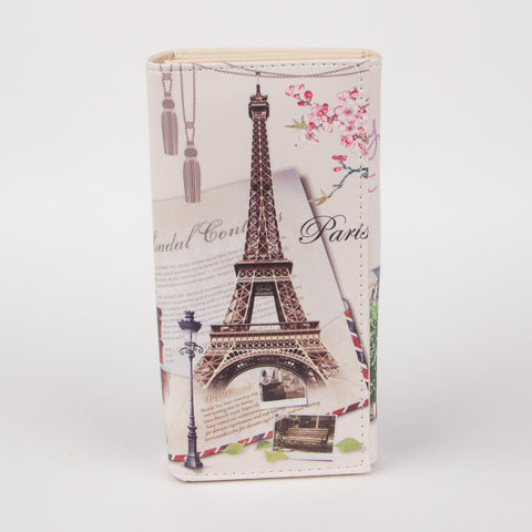 Women Eiffel Tower Coin Card Leather Wallet - Thebuyspot.com