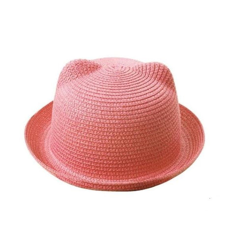 Light Pink Cat Ear Style Sun Hat - Thebuyspot.com