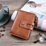 Luxury Brown Tri-bifold Hasp Design Wallet - Thebuyspot.com