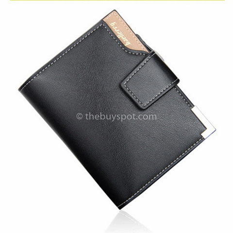Mens Black Baellerry Zipper Wallet - Thebuyspot.com