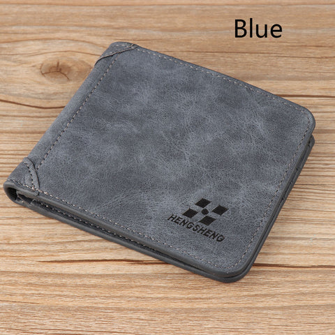 Mens Blue New PU Leather Wallet - Thebuyspot.com