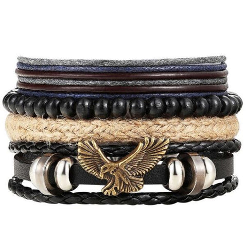 Multi Layer Eagle Punk Bracelet - Thebuyspot.com