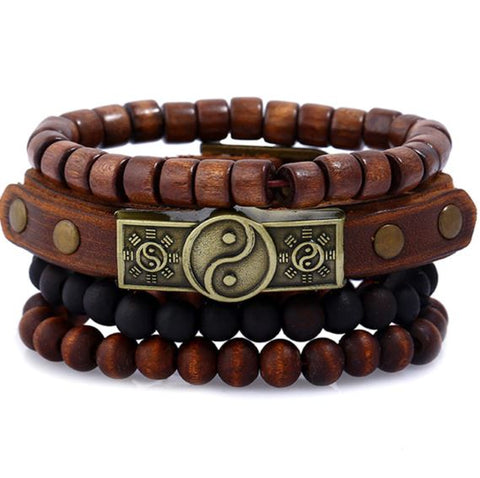 Multilayer Wooden Beads Woven Fashion Bracelets - Thebuyspot.com