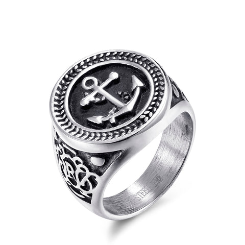 New Anchor Design Ring Stainless Steel - Thebuyspot.com