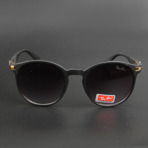 New Shape Black Round Sunglasses - Thebuyspot.com