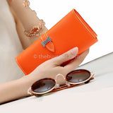 Orange Women Luxury Long Wallets - Thebuyspot.com