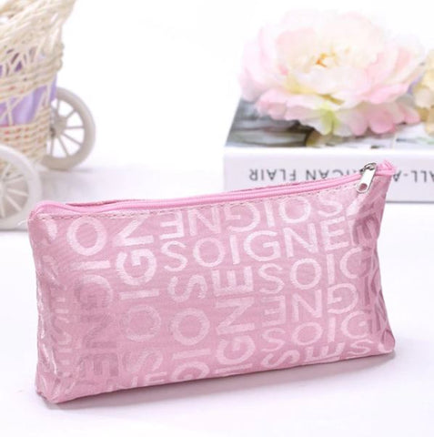 Portable Pink Multifunction Zipper Makeup Bags - Thebuyspot.com
