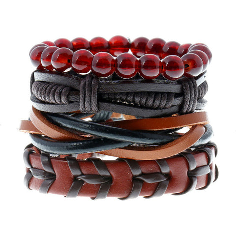 Punk Weave 4pcs Set Fashion Bracelet - Thebuyspot.com