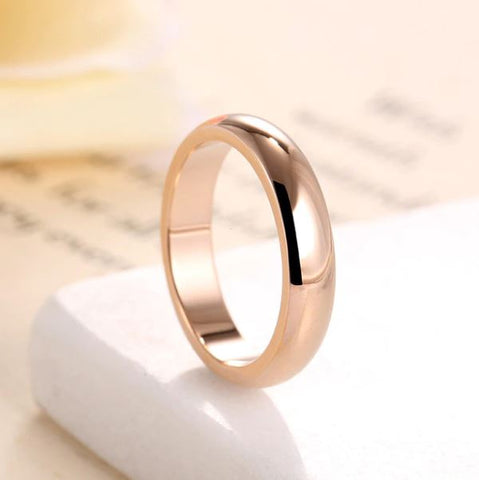 Rose Gold 4mm Round Ring - Thebuyspot.com