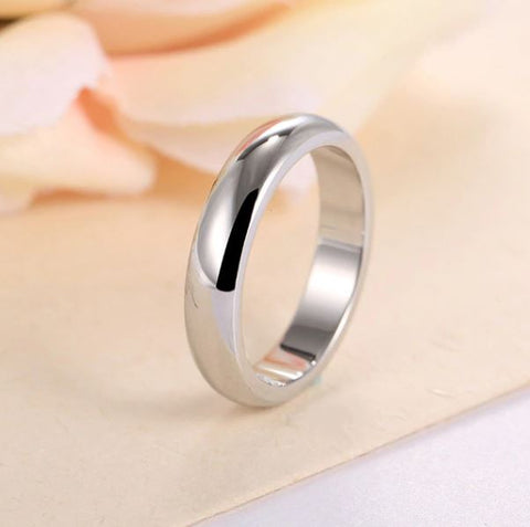 Silver 4mm Round Ring - Thebuyspot.com