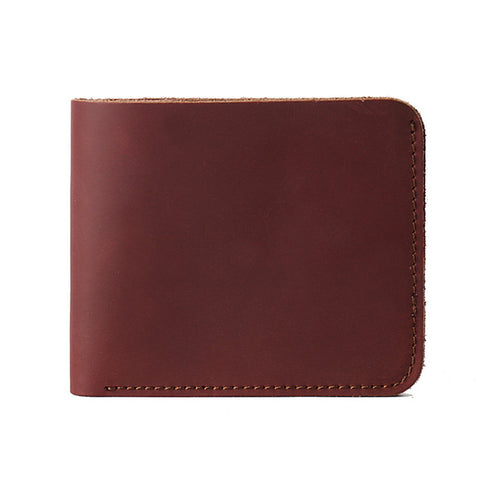 Slim Handmade Super Thin Red Leather Wallet - Thebuyspot.com