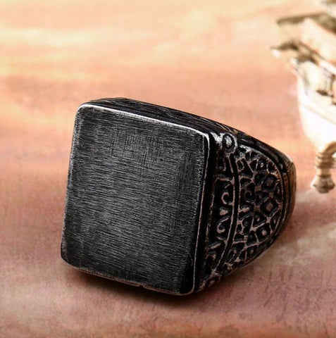 Soldier Vintage Square Ring - Thebuyspot.com