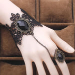Vintage Lace Bracelet Finger Hand Chain Ring - Thebuyspot.com
