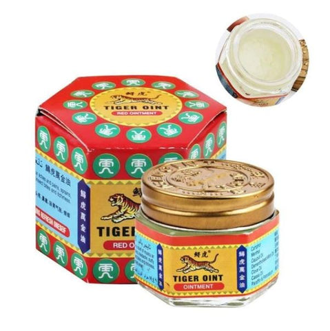 White Original Tiger Balm Pain Muscle Relieving Painkiller - Thebuyspot.com