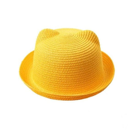 Yellow Cat Ear Style Sun Hat - Thebuyspot.com