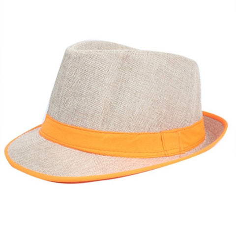 Yellow Strip Beach Jazz Casual hat - Thebuyspot.com