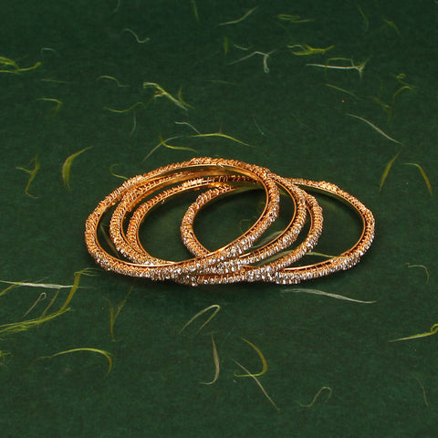 Zircon Bangles 4 Piece Set