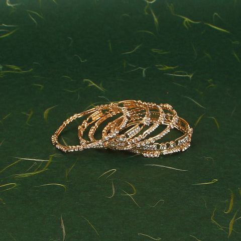 Zircon Bangles 6 Piece Set