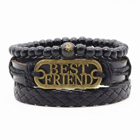 Best friend leather bracelet - Thebuyspot.com